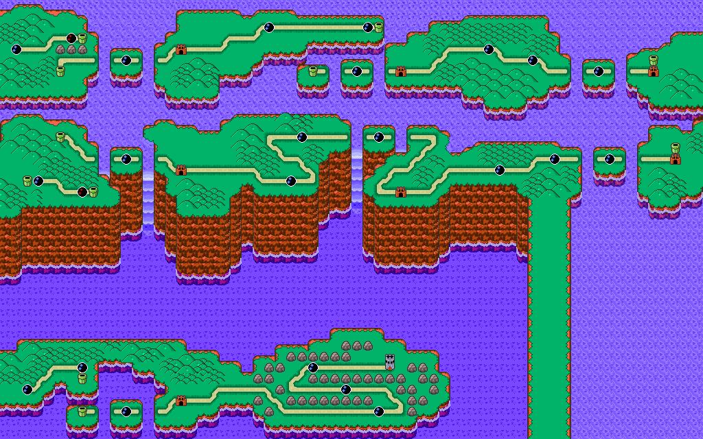 mario bros map