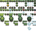 Seasonal Tiles remade from TLOZ Oracle games