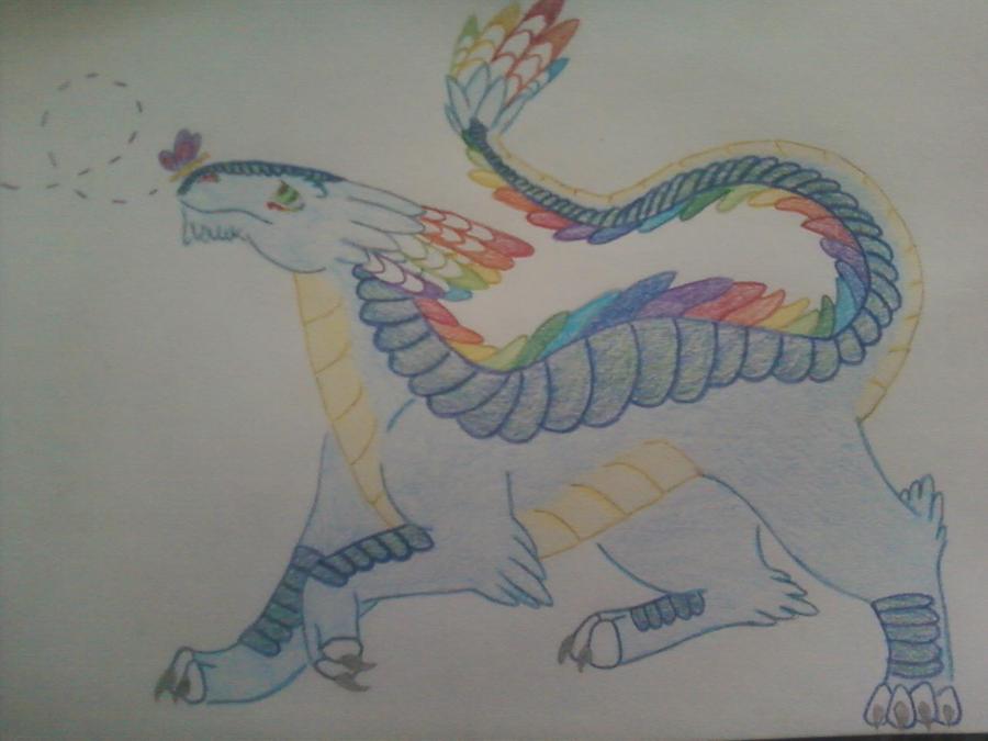 Feather Dragon by JenniferBee