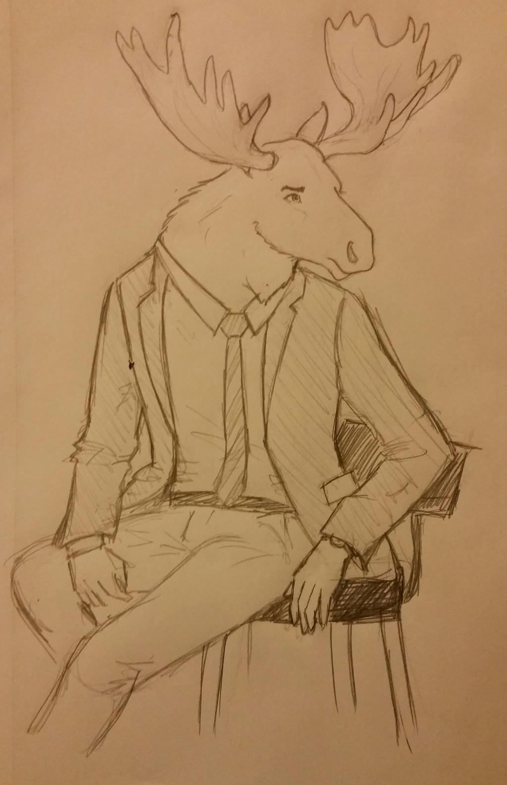 Gift: Moose Man by JenniferBee