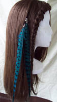 Turquoise Feather Fall 1 by Xavietta