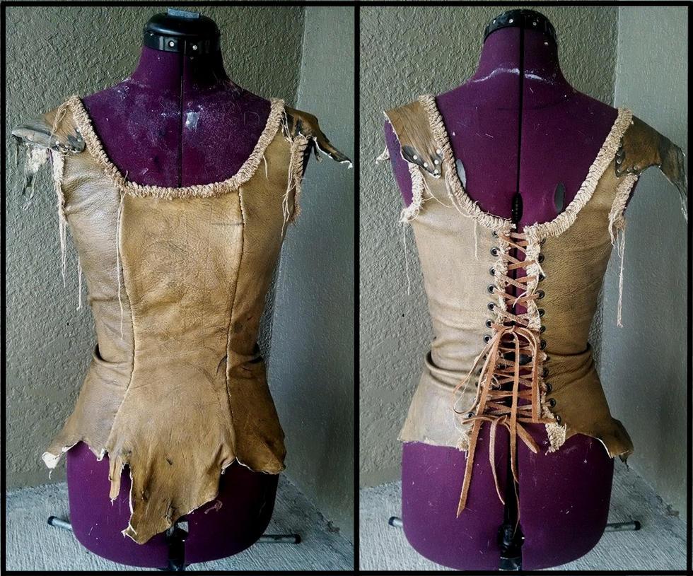 New Leather Bodice by Xavietta