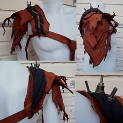 Shredded Leather Pauldron