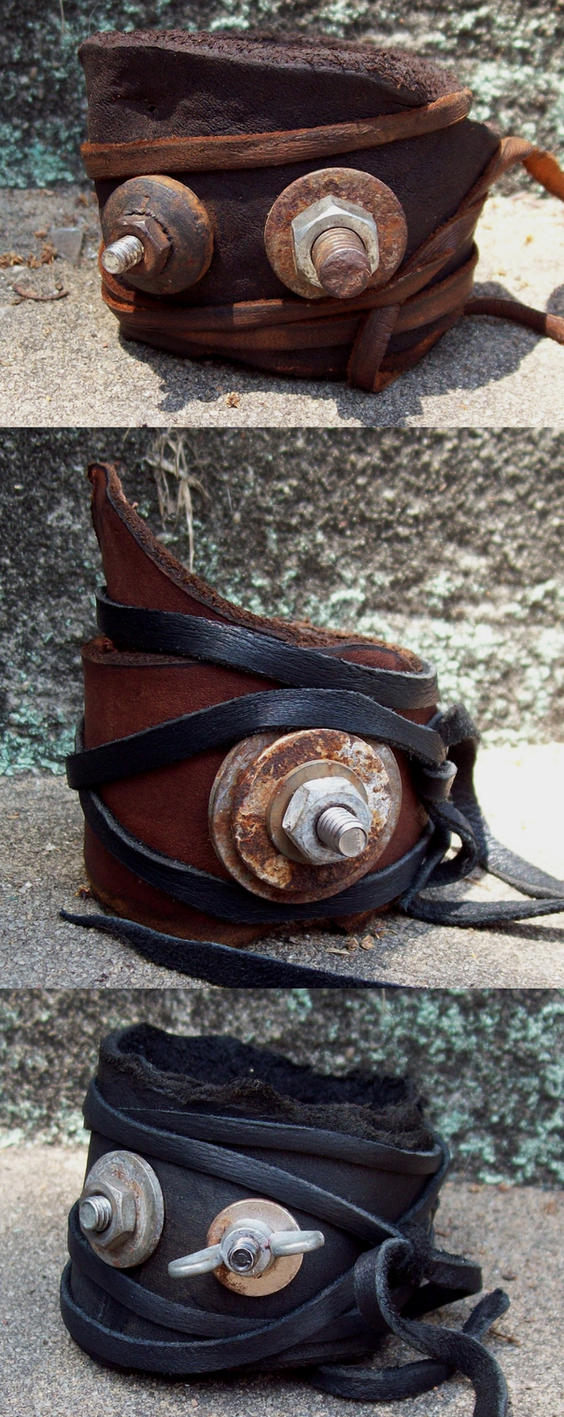 Nuts and Bolts Bracelets by Xavietta