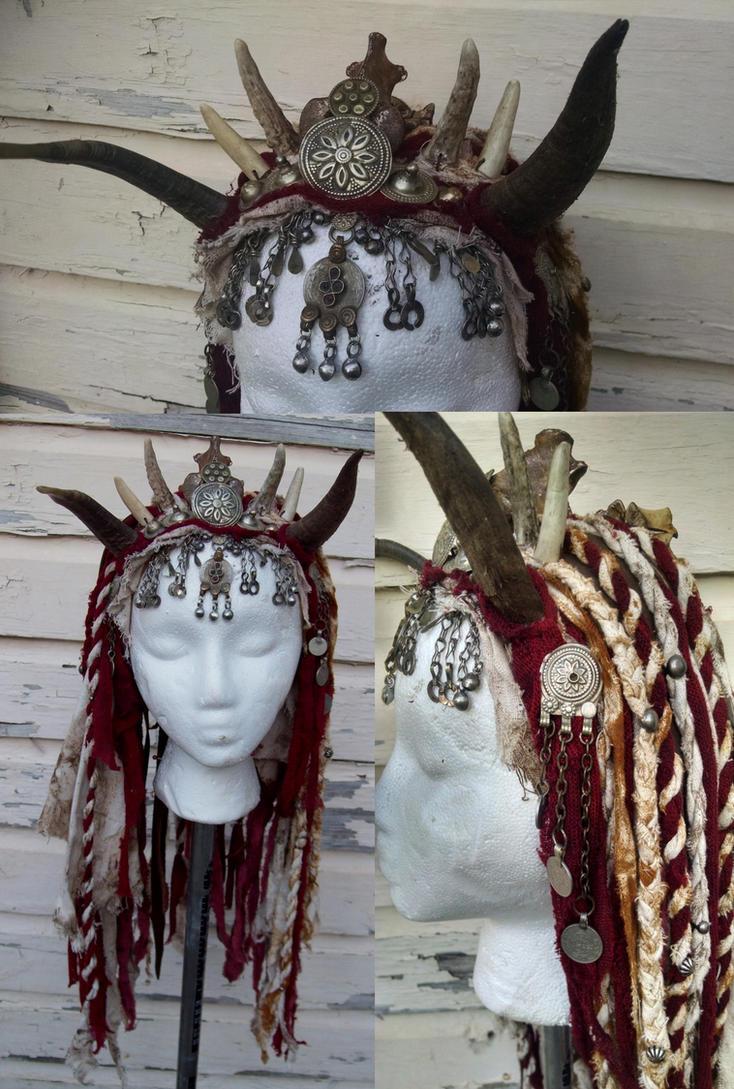 Wasteland Druid Headdress by Xavietta