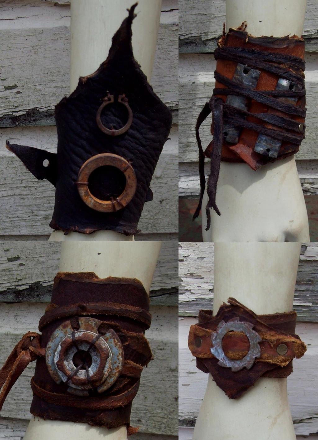 Scavenged Bracelets by Xavietta