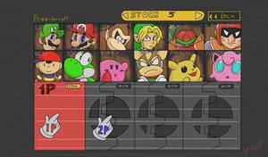 Super Smash Bros character select
