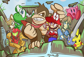 Super Smash Bros. The original eight by TyreseL