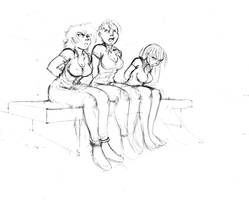 Sketch Waiting For Process by Lunargue