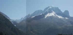 Panorama glacier de Bionnassay
