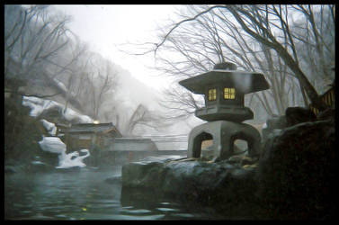 Minakami Onsen in winter by megaraliancourt