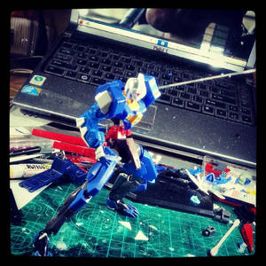 Gundam Kitbash Spallow Raiden - Some Pose