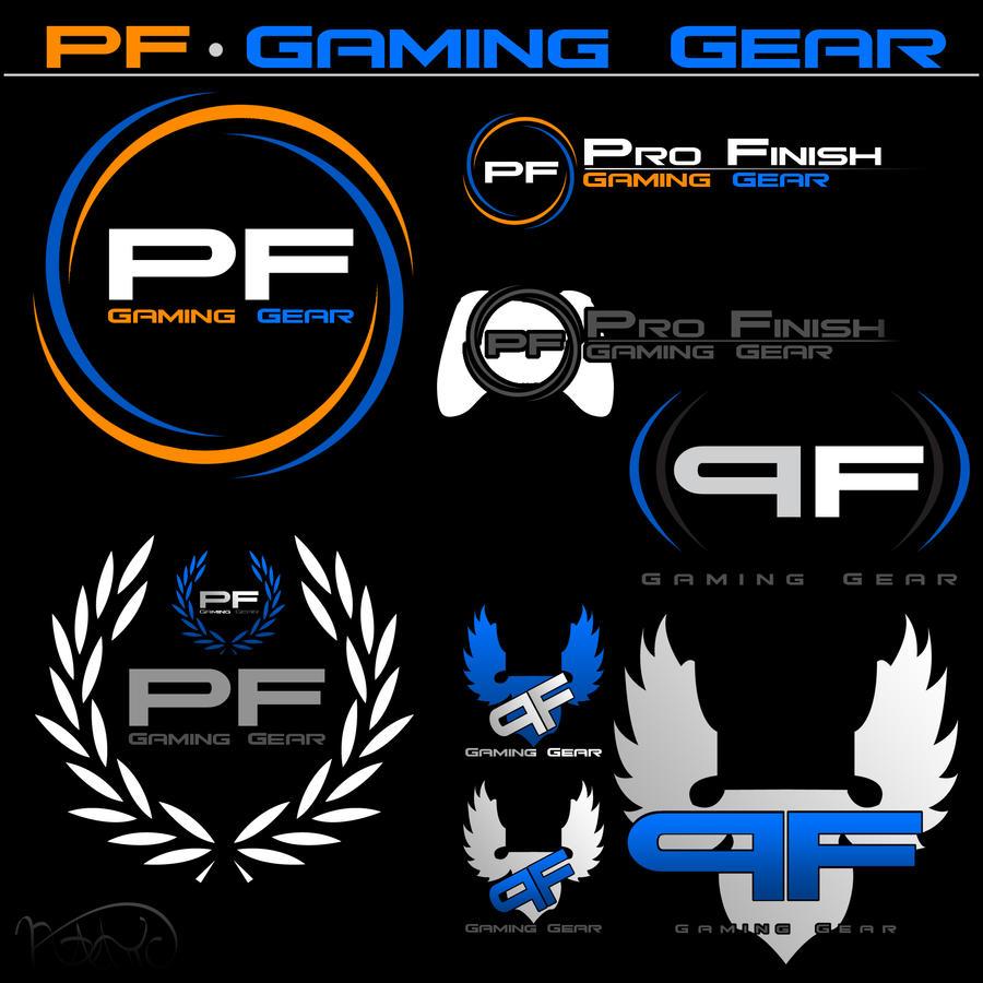 pf gaming logo concepts by venturi58 designs interfaces logos ...