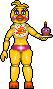 (FNaF 2) Toy Chica Pixel Art by LittleBreadPixel