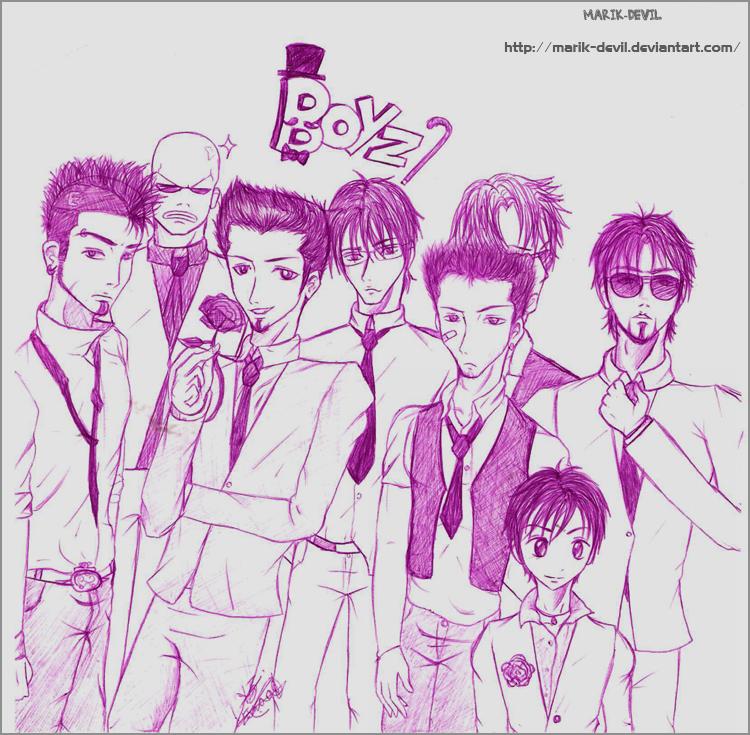 Group Of Boyz by marik-devil