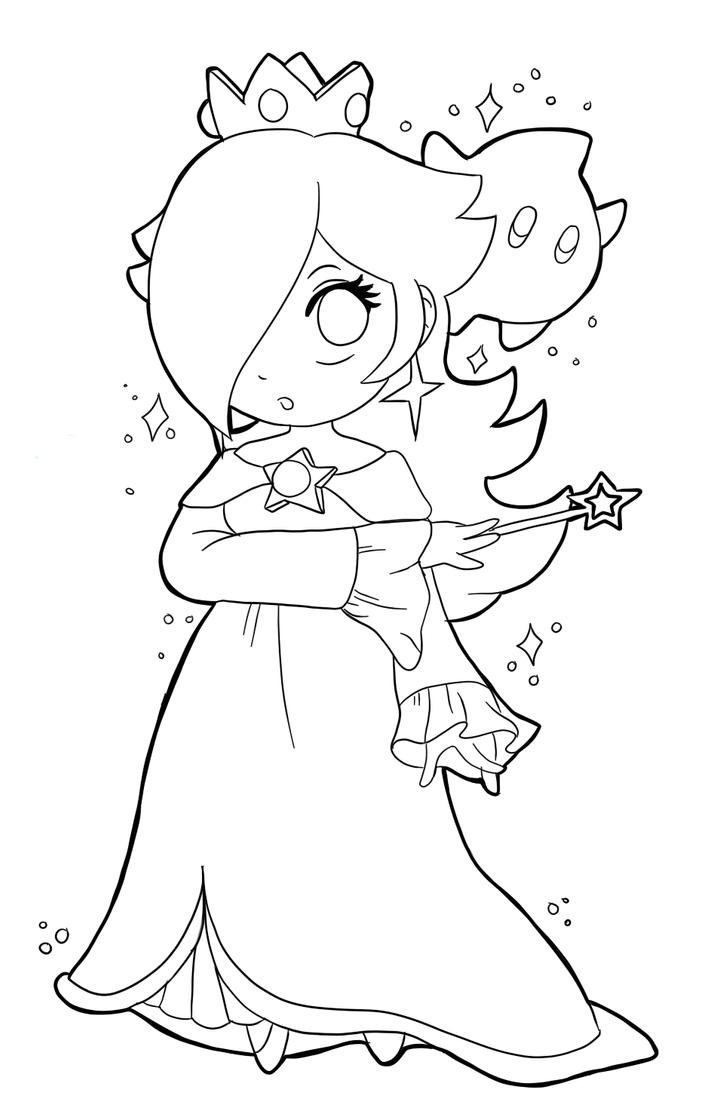 Princess rosalina coloring pages - Princess Rosalina Coloring Pages