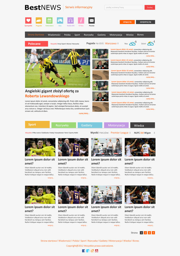 News Website by Rainbowdesign92