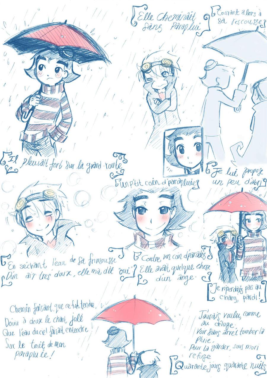 Le Parapluie by BrokenDeathAngel