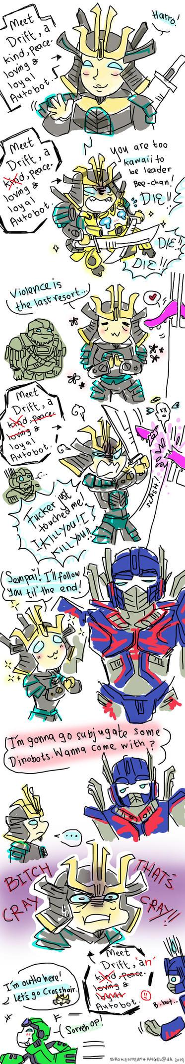 Transformers AOE: Meet Drift by BrokenDeathAngel