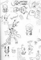 Doodle Invasion by BrokenDeathAngel