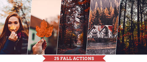 Autumn Photoshop Actions by PSActionsONLY