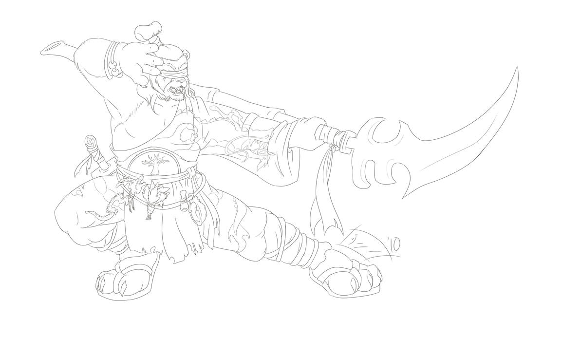 Pandaren Demon Hunter ink by MagicalMelonBall
