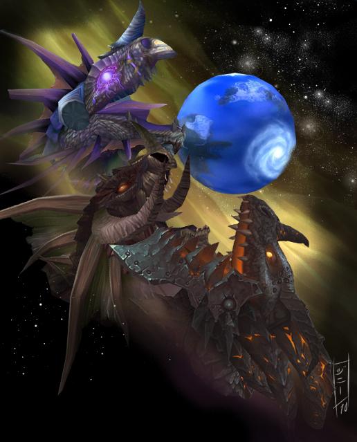Three Dragon Azeroth by MagicalMelonBall