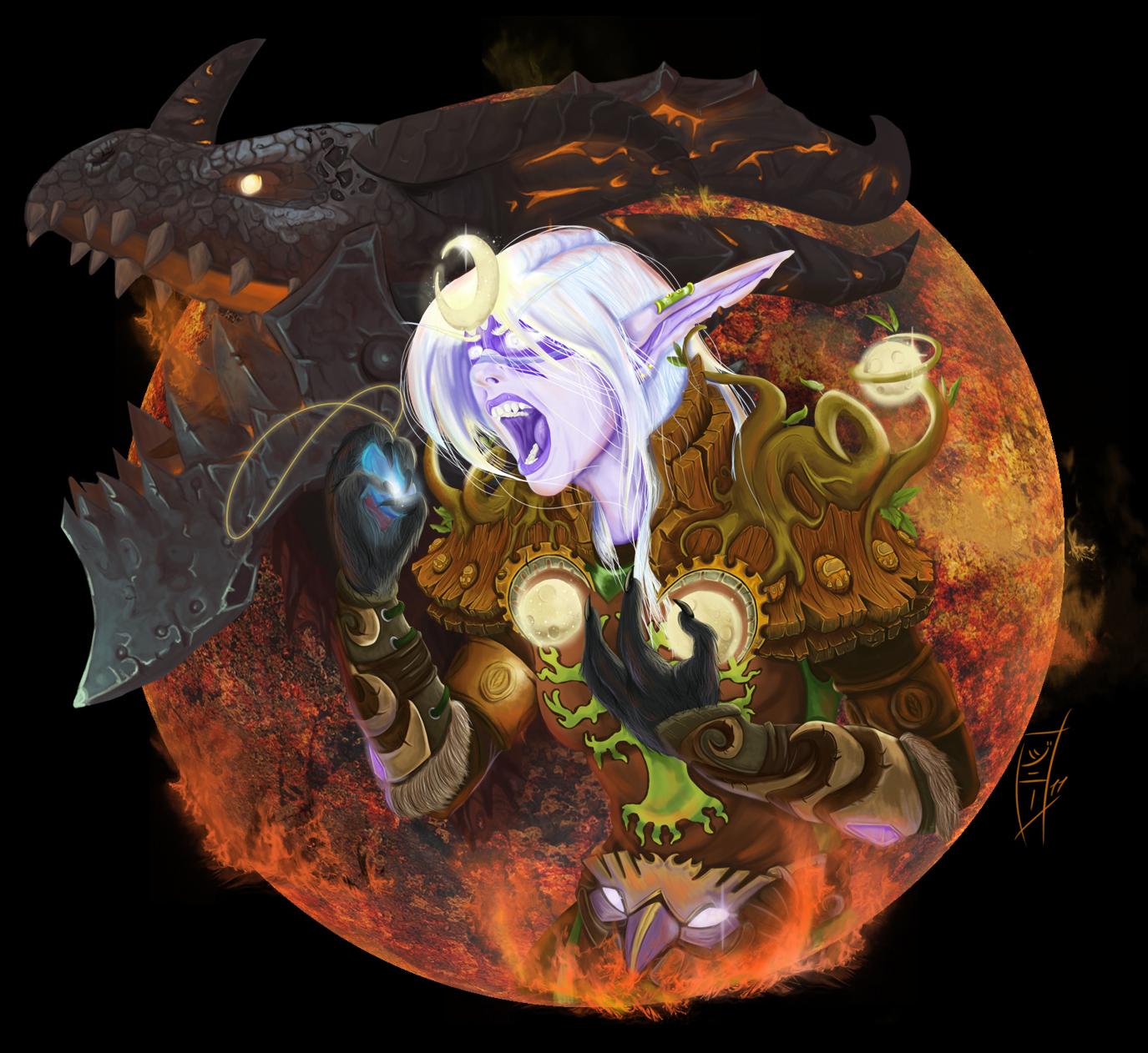 The Moon Burns by MagicalMelonBall