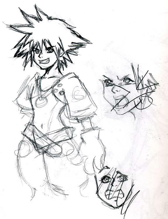 Sora Sketches 3 by MagicalMelonBall