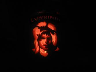 Labyrinth- Jareth pumpkin by Kittykorner