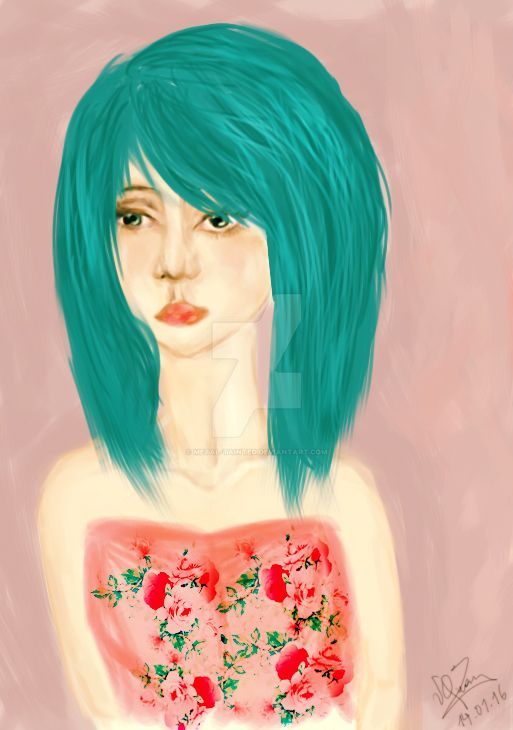 FlowersofCyan by Metal-Tainted