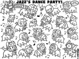 Coloring Page: Jazz's Dance Party