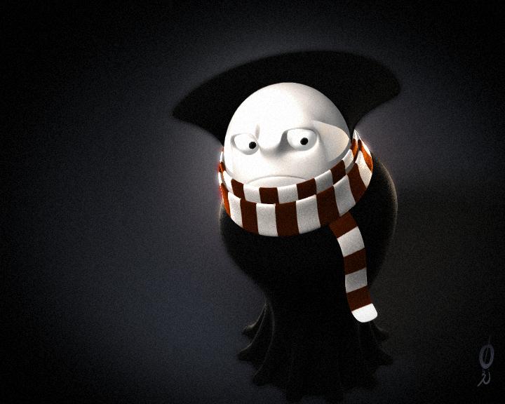 baron in cloak 3D by okcpu