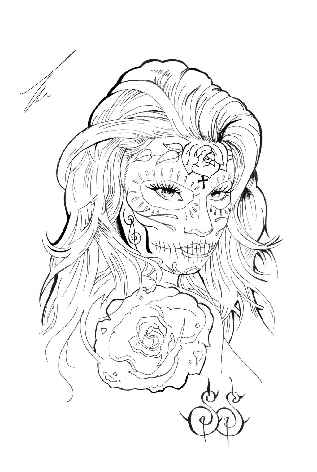 Catrina Mexicana (Draw) by MonsDisaster