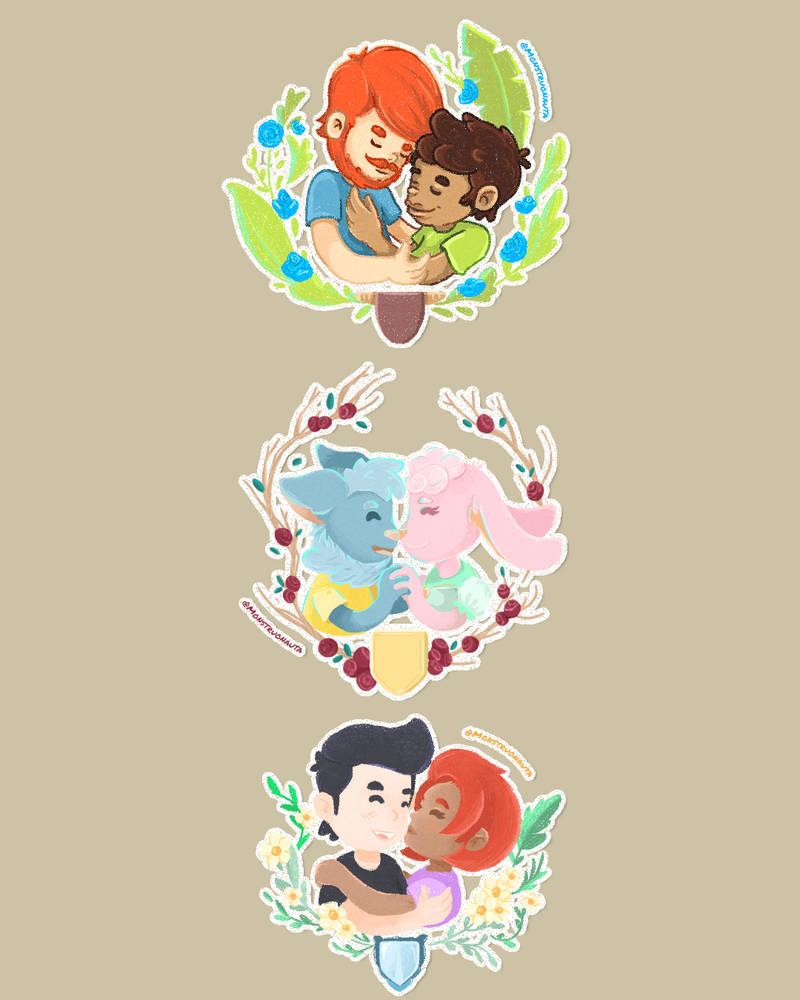 Valentine's Day Digital Sticker Commission ~ OPEN by Monstruonauta