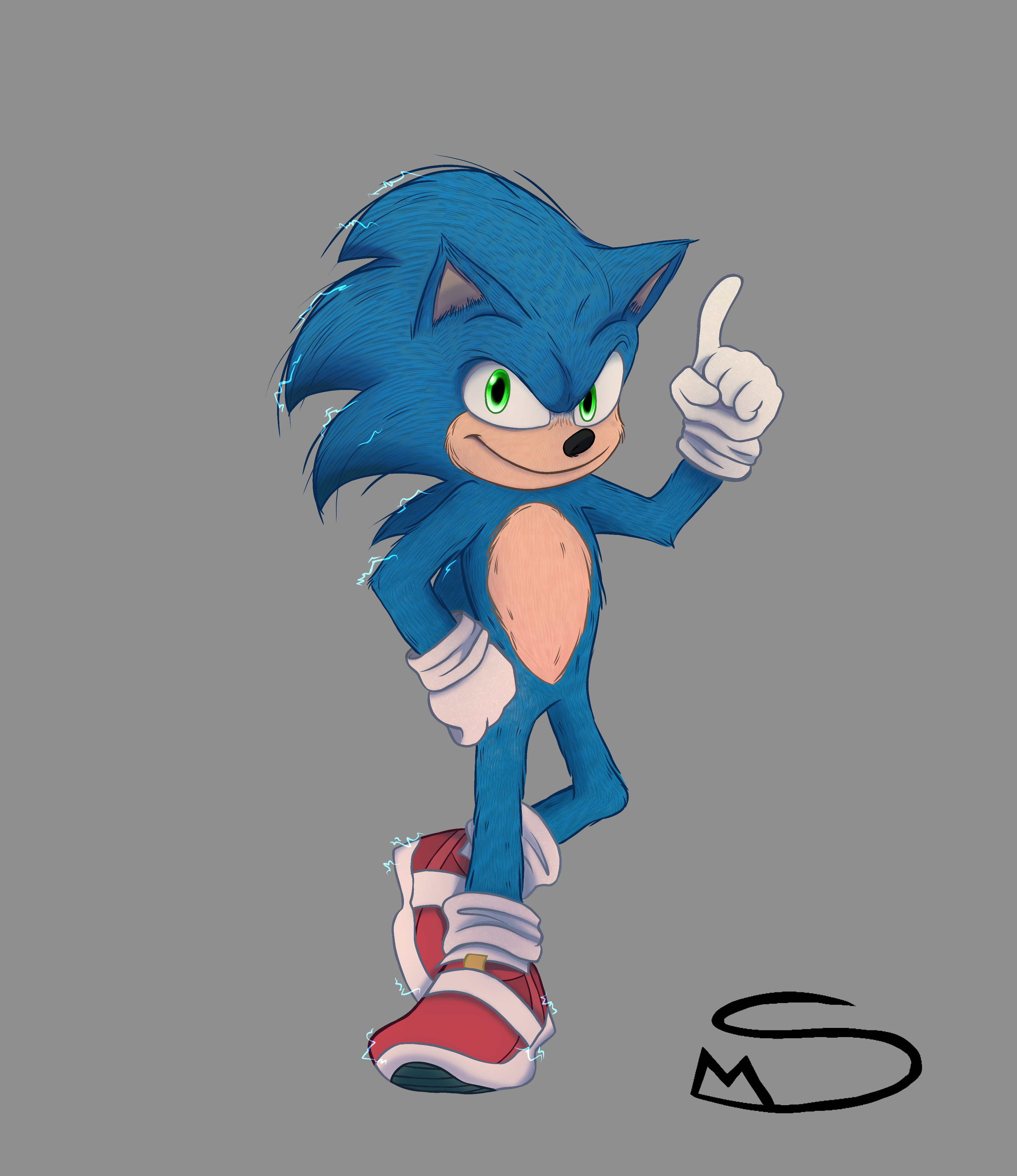 Quick Drawing Of Movie Sonic By Mordo2002 On Deviantart