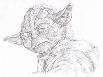 Yoda drawing by propsofprophecy