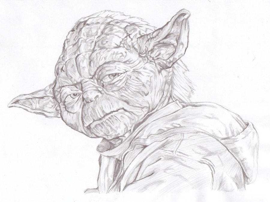 Yoda drawing by propsofprophecyYoda Face Drawing