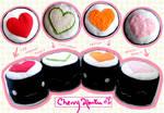 Heart Sushi Plushies
