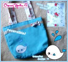 Cute Whale Reversible Bag by CherryAbuku