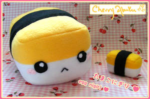 Egg nigiri plush by CherryAbuku