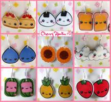 Cute Earring Collection by CherryAbuku