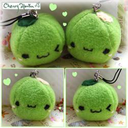 Wasabi Pea Plush Straps by CherryAbuku