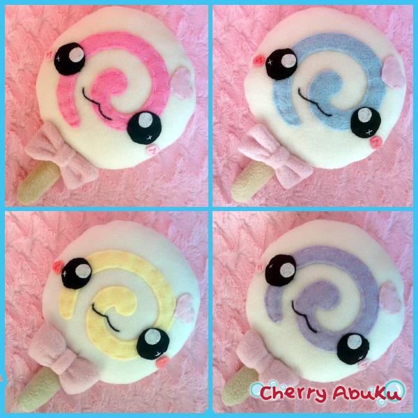 Lollipop Plushies by CherryAbuku