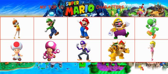 My Top 10 Favorite Super Mario Characters