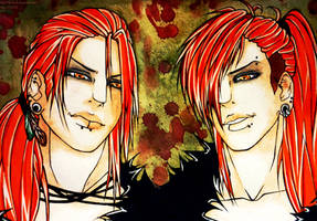 Fujime Brothers by KaiLEECH
