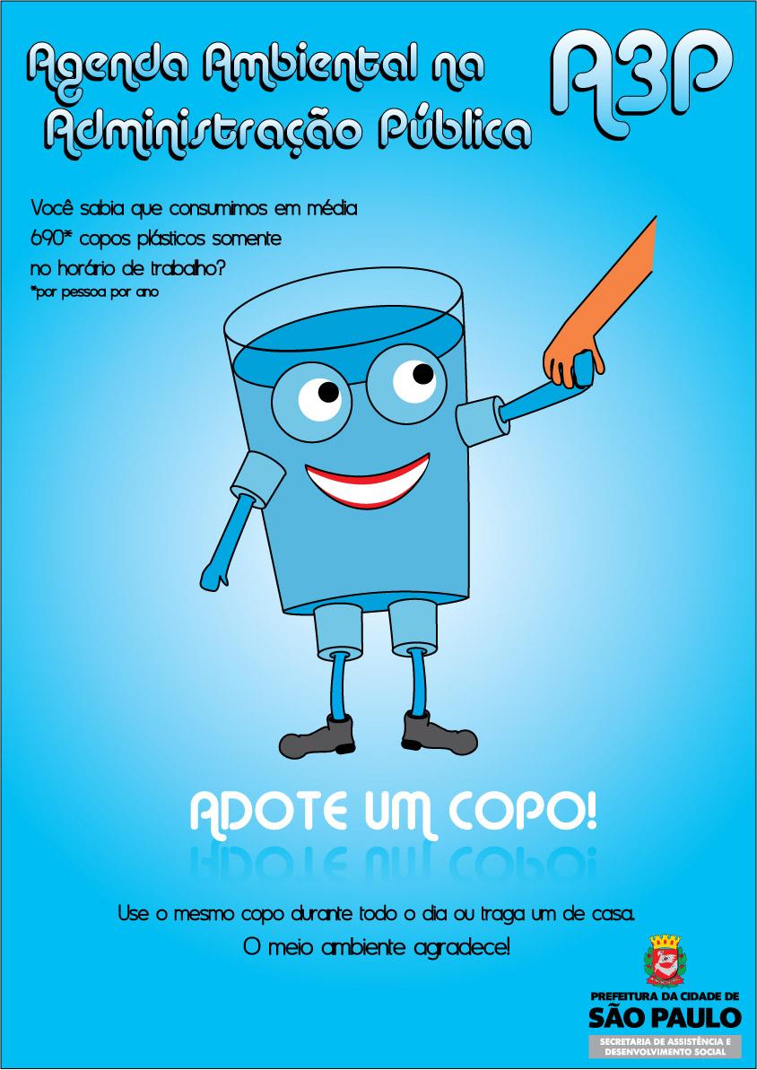 Cartaz Adote um Copo by GuillermoMila