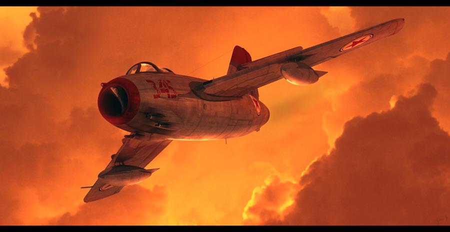 Sunset Mig by GrahamTG
