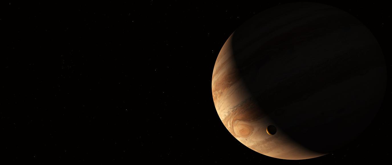 Jupiter and Io by GrahamTG