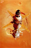 Martian Lander at Olympus Mons by GrahamTG